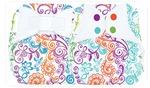 Многоразовые подгузники BumGenius с цветным рисунком
